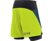 GORE R7 2in1 Shorts-dark nordic/citrus green