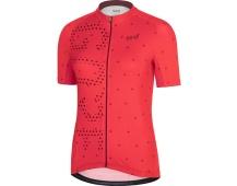 GORE C3 Women Brand Jersey-hibiscus pink/chestnut red