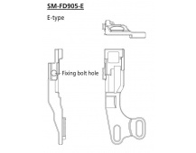 SHIMANO objímka / adaptér E-typ