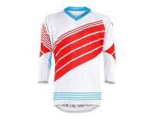 Dainese dres HG JERSEY 2 HAWAIIAN-OCEAN/HIGH-RISK-RED/WHITE