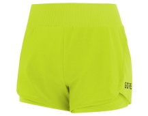 GORE R7 Women 2in1 Shorts-citrus green