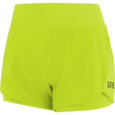 GORE R7 Women 2in1 Shorts-citrus green