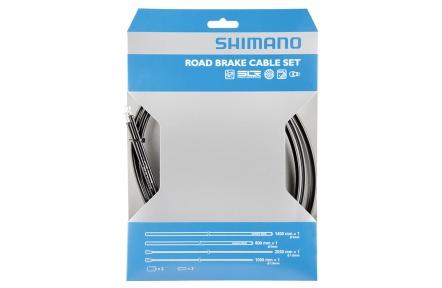 SHIMANO brzdový set s povlakem PTFE, 800/1400mm, 1,6mm x 1000/2050 mm, černý