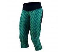 PEARL iZUMi W FLASH 3/4 kalhoty PRINT, černá/zelená, S