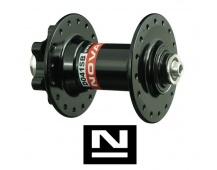 Náboj Novatec D041SB, predný, 36-dierový, čierny (N-logo)