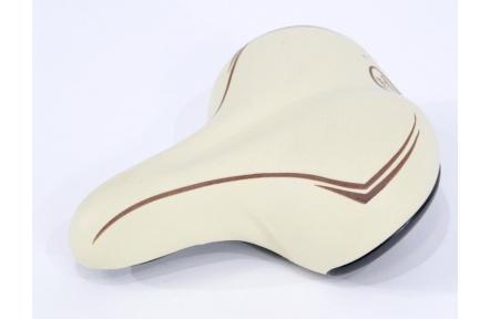 Sedlo Soft Comfort  turistické dámské s elastomerem, krémová
