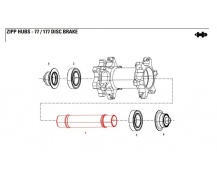 11.1918.053.000 - AXLE FRONT ZIPP 77D DB AXLE ONLY