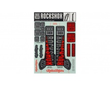 00.4318.021.001 - ROCKSHOX DECAL KIT TLD 35MM SILVER/ORANGE