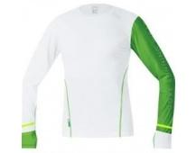 GORE X-Run Ultra Shirt long-white/kiwi