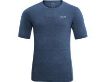 GORE R3 Melange Shirt-deep water blue