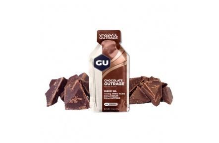 GU Energy Gel 32 g-chocolate outrage 1 SÁČEK (balení 24ks)
