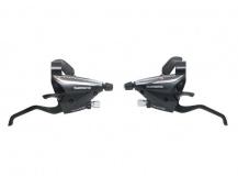 Řadící-brzdové páky Shimano  ST-EF65 3x9 levá+pravá  barva černá