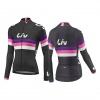 LIV Race Day LS Jersey-black/purple/hot pink