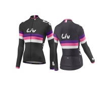 LIV Race Day LS Jersey-black/purple/hot pink
