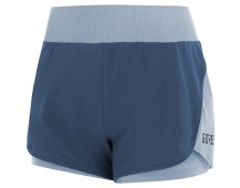 GORE R7 Women 2in1 Shorts-deep water blue/cloudy blue