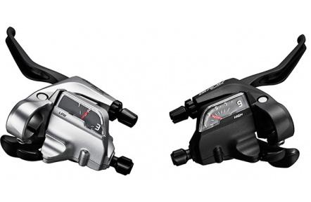 SHIMANO řad/brzd. páka ALIVIO ST-T4000 MTB/trek pro V-brzdy levá 3 rychl 3 prstá stříbrná