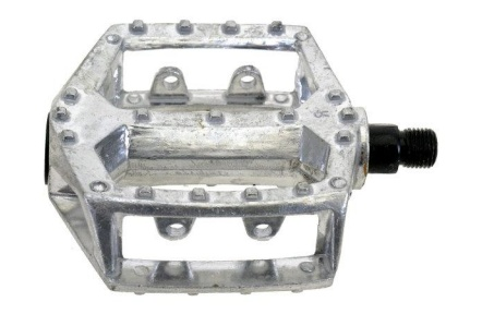 Pedály BMX-DH-Alu barva stříbrná