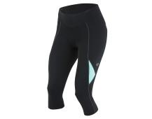 PEARL iZUMi W SELECT SUGAR 3/4 kalhoty, černá/AQUA MINT, M