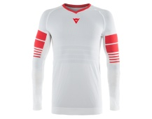 Dainese dres HG JERSEY 1 WHITE/HIGH-RISK-RED