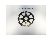 Chainwheel 36T Direct mount Narrow-Wide Single Chainring Steel Forged ED BLK CL:52mm for SyncDrive-C
