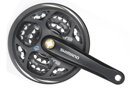 SHIMANO kliky ALTUS FC-M311 4hran 3x7/8 175 mm 48x38x28z s krytem černé