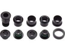 11.6918.000.001 - CHAINRING BOLT KIT RED HB 5 ALUM BLK