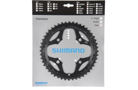 SHIMANO převodník SLX FC-M660 48 z 9 spd trojpřevodník pro 48-36-26 z černá