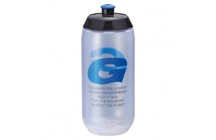GOFLO 600CC PP water bottles clear w/blu G mark