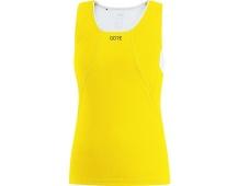 GORE R3 Women Sleeveless Shirt-solar yellow/white