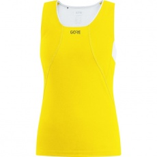GORE R3 Women Sleeveless Shirt-solar yellow/white