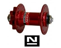 Náboj Novatec D041SB, přední, 32-děr, červený (N-logo)