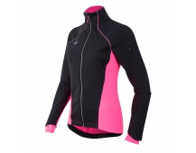 PEARL iZUMi W PURSUIT SOFTSHELL bunda, černá/SCREAMING růžová