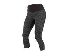 PEARL iZUMi W FLASH 3/4 kalhoty PRINT, černá/shadow šedá, S