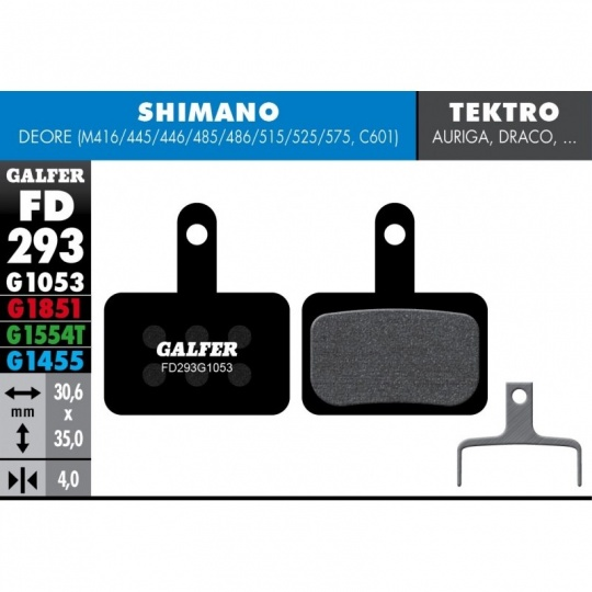GALFER destičky SHIMANO/TEKTRO FD293 standart