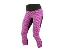 PEARL iZUMi W FLASH 3/4 kalhoty PRINT, černá/fialová , M