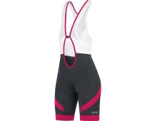 GORE C5 Women Bib Shorts+-black/jazzy pink