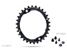 104 BCD OVAL 30T černá