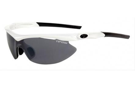 Tifosi Slip-Pearl White/interch/Smoke,AC Red,Clear
