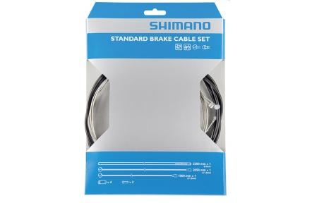 SHIMANO brzdový set pro silnici / MTB lanko + drobné díly + bowden