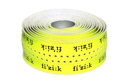 FIZIK Bar Tape Superlight 2mm Glossy - Fluo Yellow With Logos