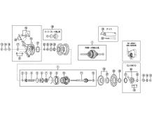 SHIMANO komponenty SG4C30,R31,R35