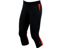 PEARL iZUMi W FLASH 3/4 kalhoty, černá/MANDARIN červená, L