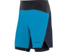 GORE R7 2in1 Shorts-dynamic cyan/orbit blue
