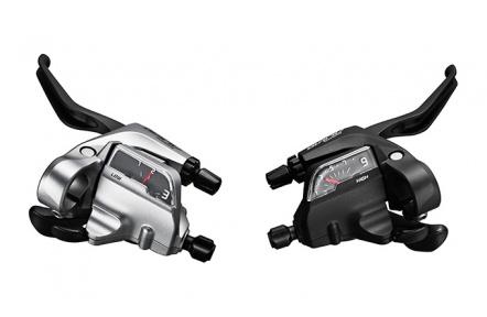 SHIMANO řad/brzd. páka ALIVIO ST-T4000 MTB/trek pro V-brzdy pravá 9 rychl 3 prstá stříbrná