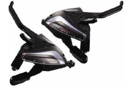 Řadící-brzdové páky Shimano  ST-EF65  3x8 levá+pravá  barva černá