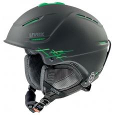 helma UVEX P1US PRO, black-green mat (S566156270*)