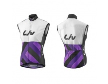 LIV Race Day Windbreaker Vest-white/purple