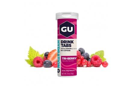 GU Hydration Drink Tabs 54 g - Triberry 1 tuba (balení 8ks)