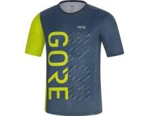 GORE M Brand Shirt-deep water blue/citrus green-L