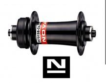 Náboj Novatec D791SB-CL, přední, 24-děrový, černý (N-logo)